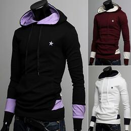 Spring 2016 men's coat New men sweater Spell color fleece jacket black men white fleece coat