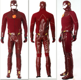 Wholesale 2015 Wonder The Flash Halloween Cosplay Customes Suits Fashion Christmas Costumes Superhero Party Outfit Theme Costume