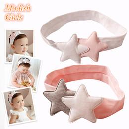 New Baby Soft Star Hairband 100% Cotton Children Pink Headband Bandanas Hair Accessories High Quality 10pcs lot Free Shipping