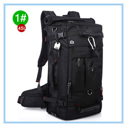 Free Shipping 45L-55L Black Color 3 Style Large-capacity Multifunctional Backpack Rucksack Professional Hiking Camping Waterproof Backpack