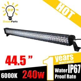 240W 42 pouces CREE LED barre de travail lumière 9-32V DC Spot Flood Combo DUAL ROW IP67 pour Off Road Truck SUV JEEP à partir de 42 barres lumineuses dirigées fabricateur