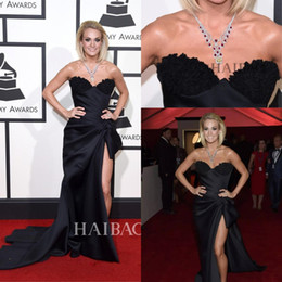 Carrie Underwood 58th Grammy Awards Sexy Celebrity Dresses High Side Split Sweetheart with Lace Appliques Formal Evening Gowns