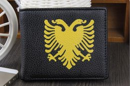 Wholesale Special Offer leather men wallet zipper coin pocket Double Head Eagle Pattern Men s casual Short Design Purse Wallets For Man Purse
