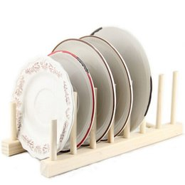 Wholesale Wooden Plate Rack Wood Stand Display Holder Lids Holds New Heavy Duty Best Price