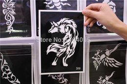 Wholesale cm cm big reusable airbrush tattoo stencil painting henna tattoo pictures designs fake tattoo template