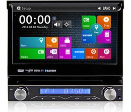 Wholesale Detachable Panel Universal din quot CAR DVD With GPS Navigation Bluetooth Ipod Autoadio Stereo Audio Video free map
