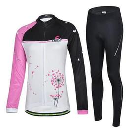 2015 CHEJI dandelion cycling jerseys Autum Winter Thermal Fleece none Fleece cycling jersey long sleeve cycling jerseys shorts for women