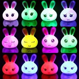 Wholesale New Lovely Rabbit LED Light LED Night Light Multi Color Change LED Mood Lamp Baby Sleeping Night Light Home Decoration Rabbit Table Light