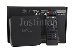 Original MXQ 16.1 Rooted Smart Android 4.4 TV BOX Fully Loaded Full HD IPTV Live TV Movies Sports MX Media Player With Internet