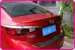 Wholesale High quality Stronger ABS material with color paint rear wing Spoiler empennage for Mazda Axela