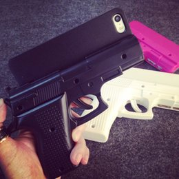 Wholesale 2015 new COOL D GUN Cell Phone capas para For iphone s c s quot plus Plastic hand gun Pistol Shape hard PC case