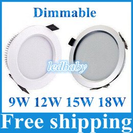 High Power 9W 12W 15W 18W Dimmable Led Downlight Ceiling Light 120 Angle Warm Cool White Led Light 110-240V Warranty 3 Years