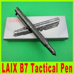 Wholesale 201410 New LAIX B7 Tactical pen life saving EDC defence pen roller penaviation aluminum Justifiable self defense pens Weapon steel X