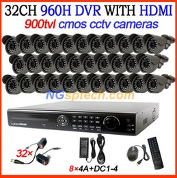32CH CCTV Surveillance Security DVR IR Camera System Kit 32pcs 900TVL Waterproof Security Cameras Home CCTV Systems 32ch DVR Kit