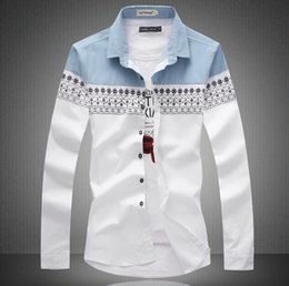 Big Size New 2015 Mens Shirt Slim Fit Fashion Long Sleeve Casual Shirts Men Dress Shirts High Quality Camisas 2 Colors