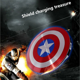 Wholesale 10PCS In the new captain America mobile power supply The avengers alliance phone general charging treasure mAh