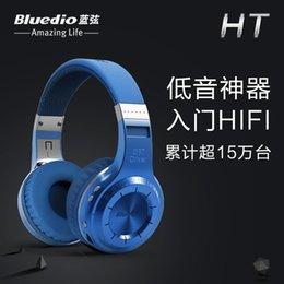 Wholesale Bluedio Turbine Hurricane H HT Bluetooth Wireless Stereo Headphones Headset Built in Mic handsfree for calls music streaming DHL