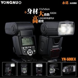 Wholesale YONGNUO YN500EX YN EX YN EX GN53 E TTL Led Video Light High Speed HSS Portable Flash Speedlite For Canon D D D