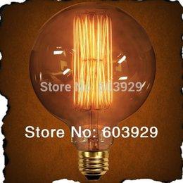 Wholesale Sale Rushed E27 Indoor Medical Instrument Vintage Antique Edison Light Bulb St64 v v Dia95mm