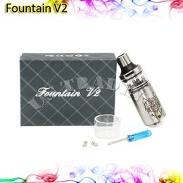 Wholesale Fountain v2 RDA Snow Wolf Tank Post Atomzier Replacement Glas Tank Bottom Feeding System for Large Power Box Mod