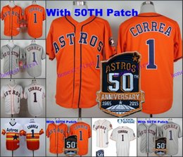 Wholesale Carlos Correa Jersey with th Patch Rainbow Turn Back Cool Base Houston Astros Jerseys Orange Grey Stitched High Quality