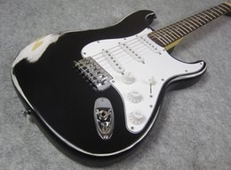 High Quality Electric Guitar, Best OEM Guitar, Relic Black Over White, you get wht you see, good quality guitars, shipped out quickly,