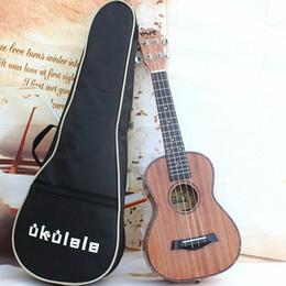 Wholesale New Black Padded Acoustic Guitar Bass Inch Back Carry Cover Case Bag Waterproof Guitar Handbag Ukulele Gig Bag Music Student FS