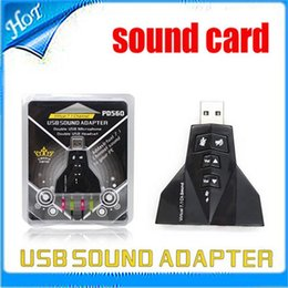 External Virtual 7.1 Channel USB 2.0 3D Audio Sound Card Laptop PC Mic Adapter