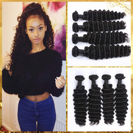 Wholesale 100 Brazilian Unprocessed Hair Weave Virgin Human Hair Extensions PC Deep Wave Double Weft Queen Hair Beauty Fast