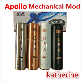 Wholesale Apollo Mechanical MOD E Cigarette MOD SS Black White Brass Red Copper Apollo Machanical Mod Clone USA Apollo Mods Fit Battery