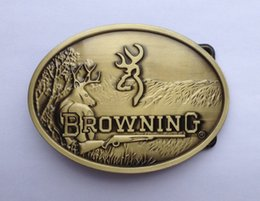 Wholesale Browning belt buckle with antique brass finish SW S01 suitable for cm wideth belt with continous stock