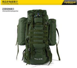 65L+10L large-capacity School travel bags Professional climbing backpack outdoor tactical hiking backpack men's