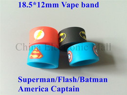 Superman silicone rubber band vape ring 22mm diameter for mechanical mods rda rba protection vape ecig Non Slip rubber band