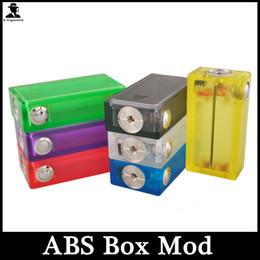 ABS Mod E Cigarette Box Mod with Colorful Light 3.7-4.2V Vapor Box Acrylic ABS Box Mod In Stock