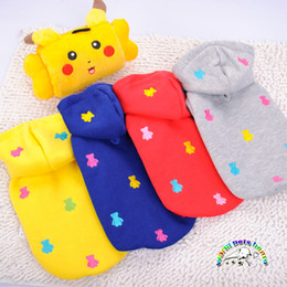 Chihuahua yorkie clothes new arrival dog clothes red blue yellow ball bear dog coat for small dogs cotton dog winter jackets CA308