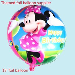 Wholesale Minnie Mouse Themed Party Supplier Minnie Mouse Balloon Foil Helium Balloon