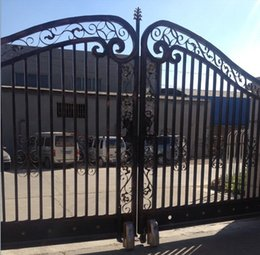 Wholesale Galvanized Main house steel gate design