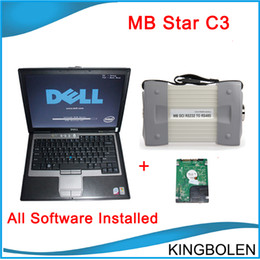 Wholesale 2014 Newest software installed on Dell D630 Laptop MB Star C3 for Mercedes benz Auto diagnostic tool diagnosis C3 multiplexer DHL Free