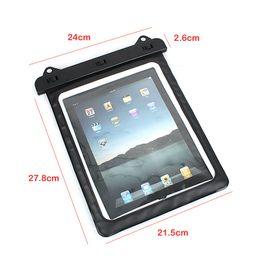 Galaxy tab caja estanca en venta-Al por mayor-transparente a prueba de agua bolsa de tintorería filtro de la manga del caso del PVC Negro para iPad Tablet 2 Mini Fit con Samsung GALAXY Tab 3 8.0 Nota N8000