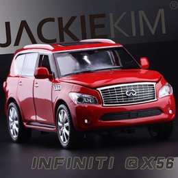 Wholesale High Simulation Exquisite Collection Baby Toys CaiPo Car Styling Infiniti QX56 Model Alloy SUV Car Model Best Gifts