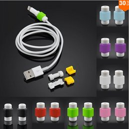 Wholesale HOT USB Lightning Data Charger Charging Cable Saver Protector For iPhone S S Plus ipad Samsung Headset Earphone Wire Cord Protective