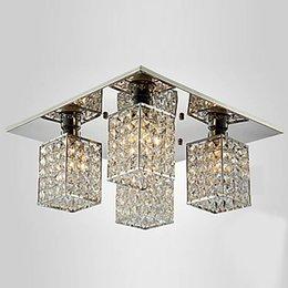 Wholesale Kristall Moderne LED Deckenleuchte Mit 4 Leuchten Fr Wohnzimmer Lampe Innenbeleuchtung Lustres De Teto Luminarias Para Sala