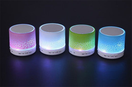 Wholesale Bluetooth Speaker Mini Portable With Beautiful LED Light Support TF Card for Smart Phone DHL