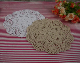 Wholesale - Free shipping 100% cotton handmade Crochet Doilies cup mat , Crochet Doily 3D cup pad,coaster 25CM , 30PCS LOT-zj009