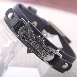 Wholesale Hot Game LoL Leather Bracelet For Men League of Legend Cool Black Bangles Wrist Strap LOL Accessories Good Quality