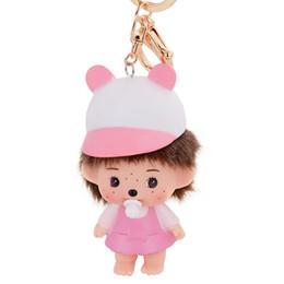 Wholesale New Design Cute Doll Baby Girl Baseball Hat Keychain