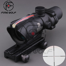 Wholesale 2016 New Hot sale x32 ACOG Style Optical Rifle Scope Magnification Scope For Hunting