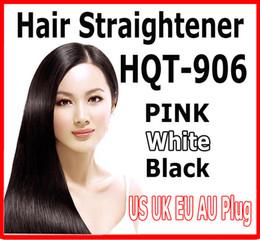 Wholesale hot US UK AU EU Plug Fast Hair Straightener Styling Tool Flat Iron Comb Brush Massage With LCD Digital Temperature Control