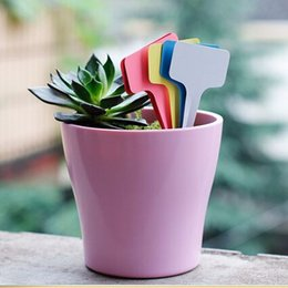 100pcs Hot Sale 6 x10cm Plastic Plant T-type Tags Markers Nursery Garden Labels Signs Plant Hanging Tags Gray