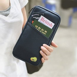 Pouch Wallet Travel Journey Fabric Passport ID Card Holder Case Cover Wallet Purse Organizer Bag Makeup Bag